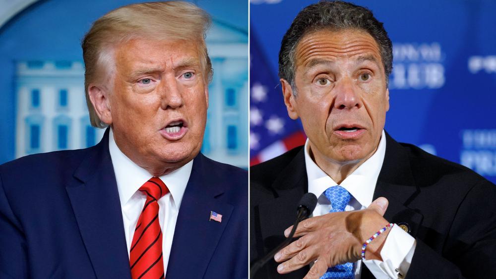 President Donald Trump and New York Gov. Andrew Cuomo