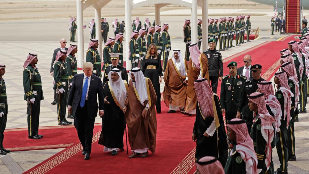 President Trump with King Salman