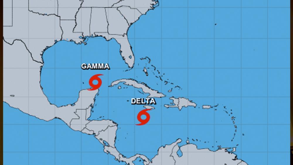 Tropical Storms Gamma and Delta