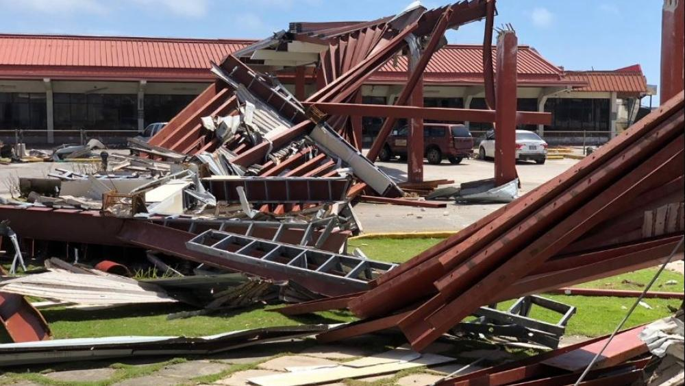 Damage at Saipan's airport is shown after Super Typhoon Yutu hit the U.S. Commonwealth of the Northern Mariana Islands in Garapan, Saipan. Residents of the U.S. territory are preparing for months without electricity or running water. AP Photo.