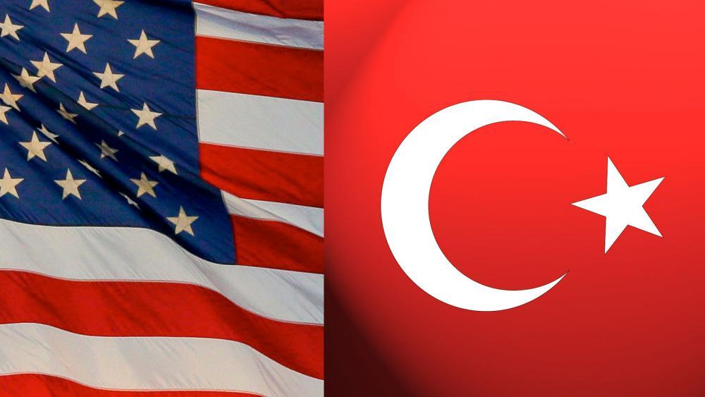 US - Turkey flags