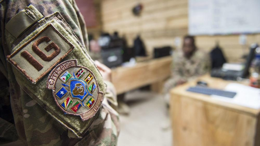The al-Shabab extremist group said Sunday, Jan. 5, 2020 that it has attacked the Camp Simba military base used by U.S. and Kenyan troops (Staff Sgt. Timothy Moore/U.S. Air Force via AP)