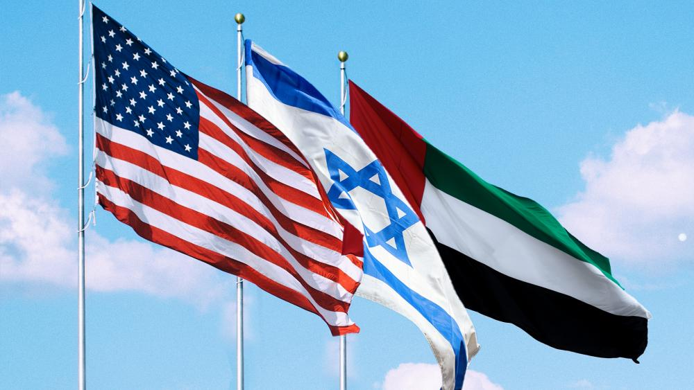 usa israel uae flags