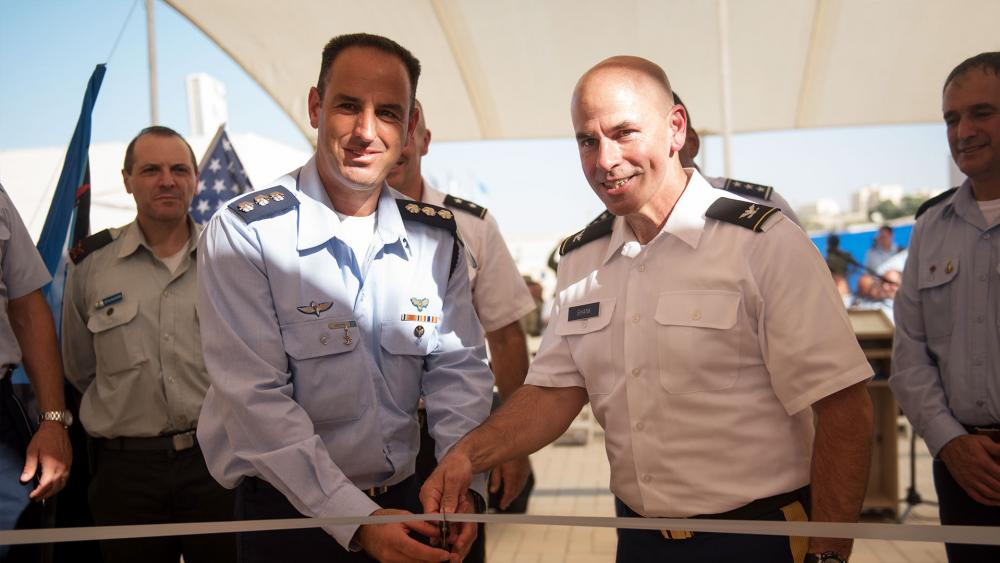 IDF Brig. Gen. Tvika Haimovitch and US Maj. Gen. John Gronski Inaugurate 1st Permanent US Military Base in Israel, Photo, IDF