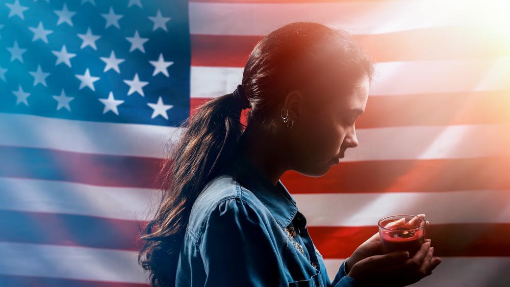 US flag prayer