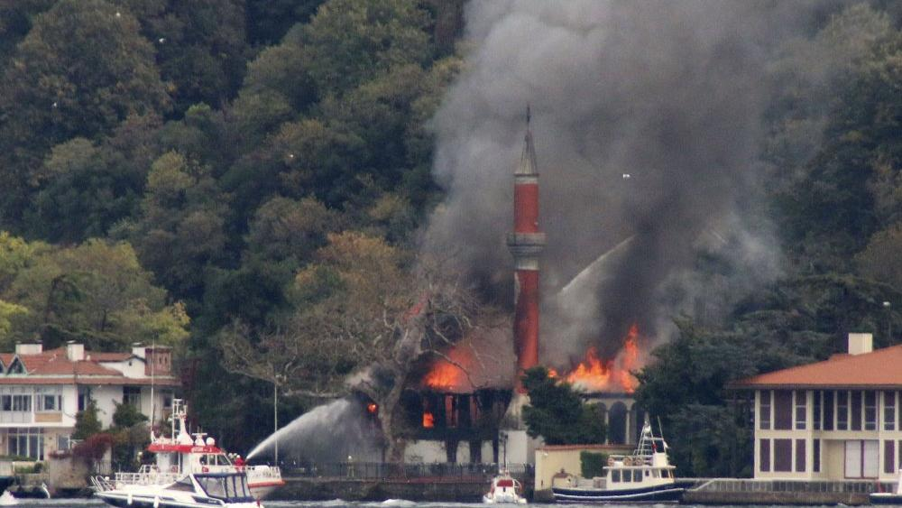 Fire Damages Historic Mosque on Istanbul's Bosporus Strait thumbnail