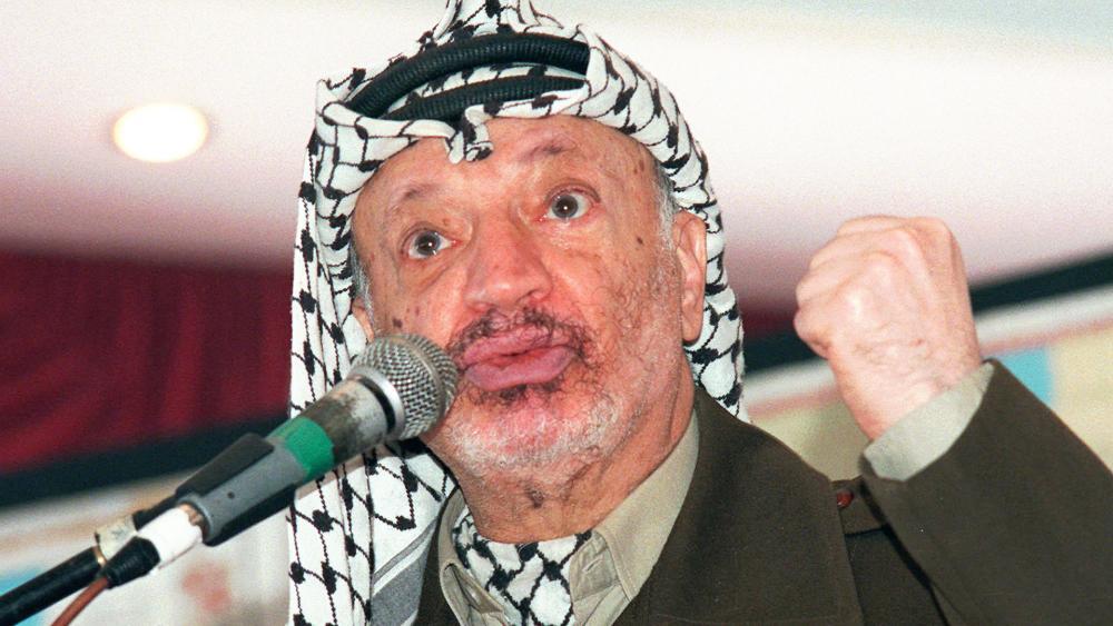 The late PLO Chairman Yasser Arafat, Photo, AP archives, Nasser Nasser