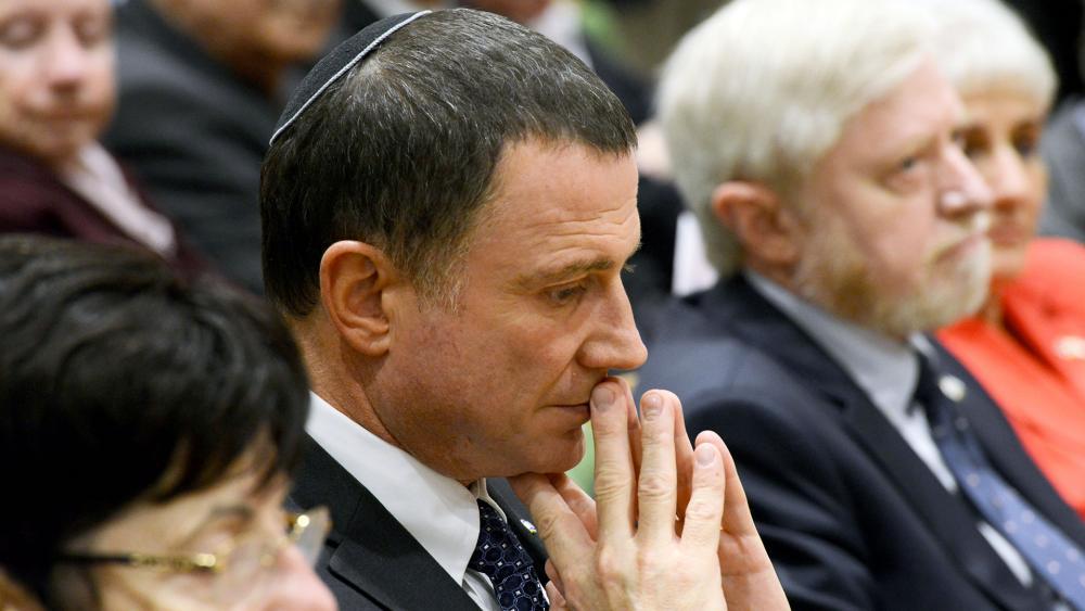 Knesset Speaker Yuli Edelstein at a Dedication Ceremony, Photo, GPO, Mark Neyman