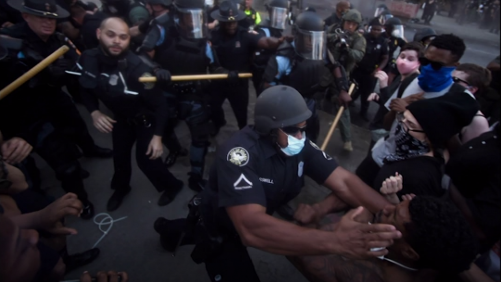 Protests over the death of George Floyd in Minneapolis police custody spread around the United States. Image Credit: AP