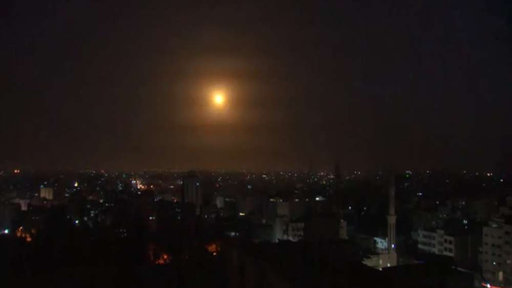 AP: September 14, Image of rocket from Gaza being intercepted by Iron Dome