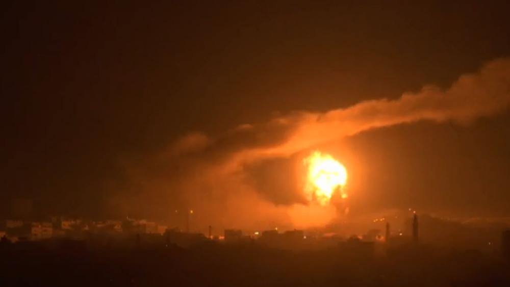 Israel strikes targets in Gaza/ Associated Press screenshot