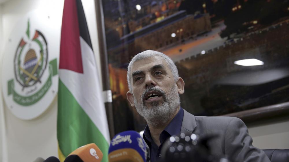 Yehiyeh Sinwar, the Hamas terror group's leader. (AP Photo/Khalil Hamra, File)