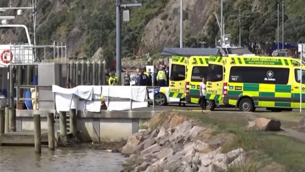 New Zealand rescue workers, AP video screenshot
