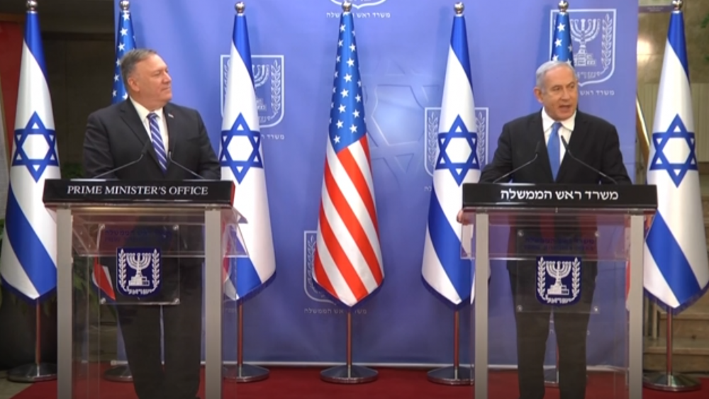 AP Video Screenshot: Israeli Prime Minister Benjamin Netanyahu, US Secretary of State Mike Pompeo talk UAE deal in joint press conference. August 24, 2020.