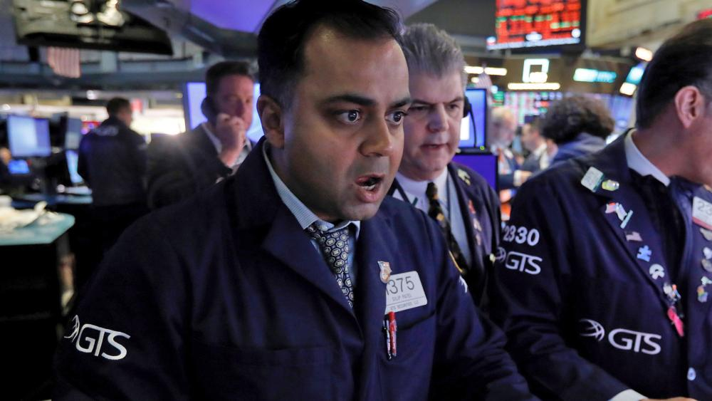 The Dow Jones Industrial Average sank 7.8% on March 9, 2020, its steepest drop since the financial crisis of 2008, as a free-fall in oil prices and fears of fallout from the coronavirus outbreak seized markets. (AP Photo/Richard Drew)