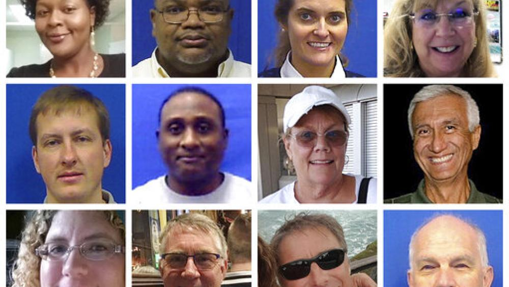 "VA Beach shooting victims: Laquita Brown, Ryan Keith Cox, Tara Welch Gallagher, Mary Louise Gayle, Alexander Mikhail Gusev, Joshua Hardy, Michelle ""Missy"" Langer, Richard Nettleton, Katherine Nixon, Christopher Rapp, Bert Snelling & Bobby Williams (AP)"