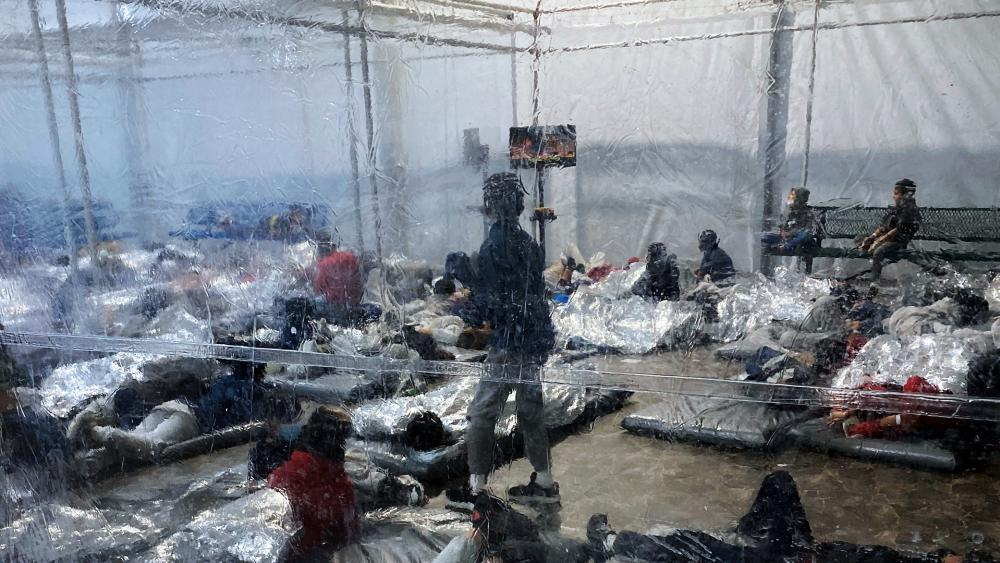A Customs and Border Protection (CBP) temporary overflow facility in Donna, Texas where thousands of immigrant children are being detained. (Photo courtesy of the Office of Rep. Henry Cuellar via AP)
