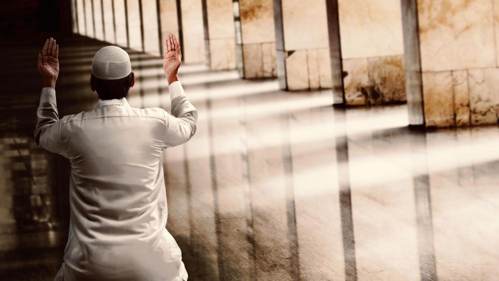 Muslim man mosque praying