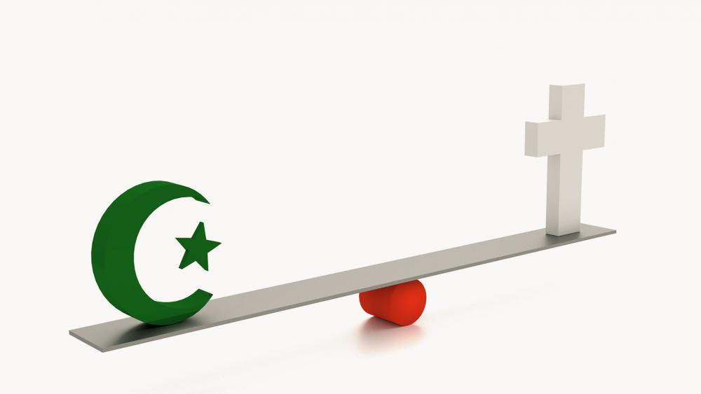 muslimsymbolcrossbalanceas