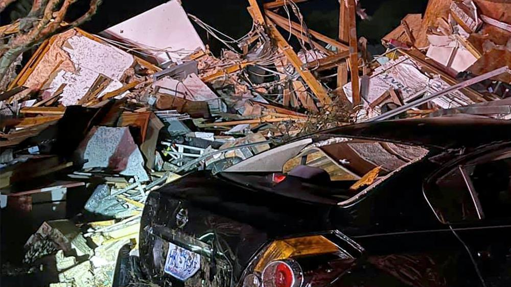 Debris after a deadly tornado tore through Brunswick County, N.C., Tuesday, Feb. 16, 2021. (PHOTO: Emily Flax/Brunswick County Sheriff's Office via AP)