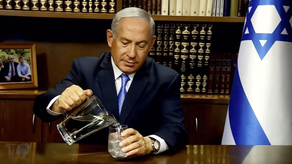 Netanyahu offer to help the Iranian people with water crisis. Photo: PM YouTube