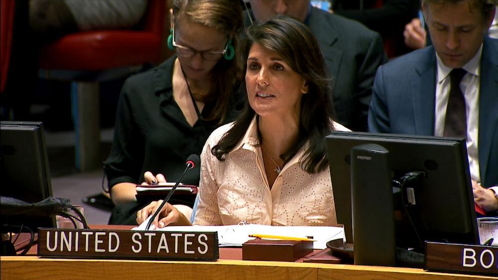 UN Ambassador Nikki Haley defends Israel at the United Nations