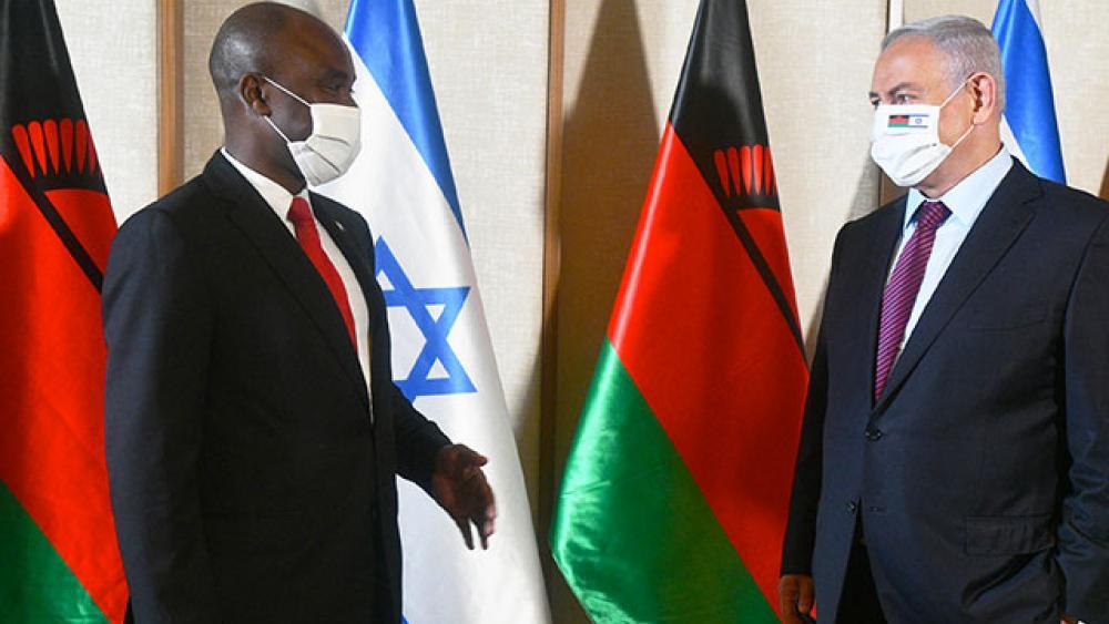 PM Netanyahu Meets with Malawi Foreign Minister Mkaka - Photo Credit: Haim Zach (GPO)