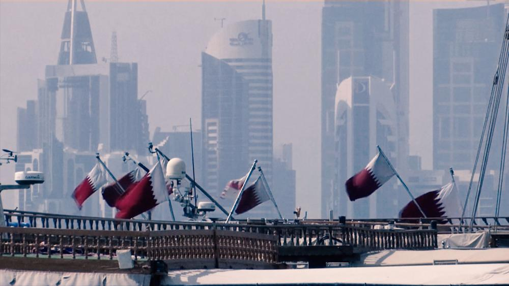 Qatar flags, Image, CBN News