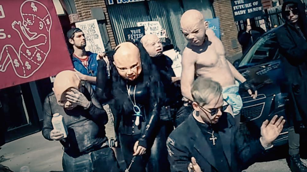 Satanists interrupt pro-life rally