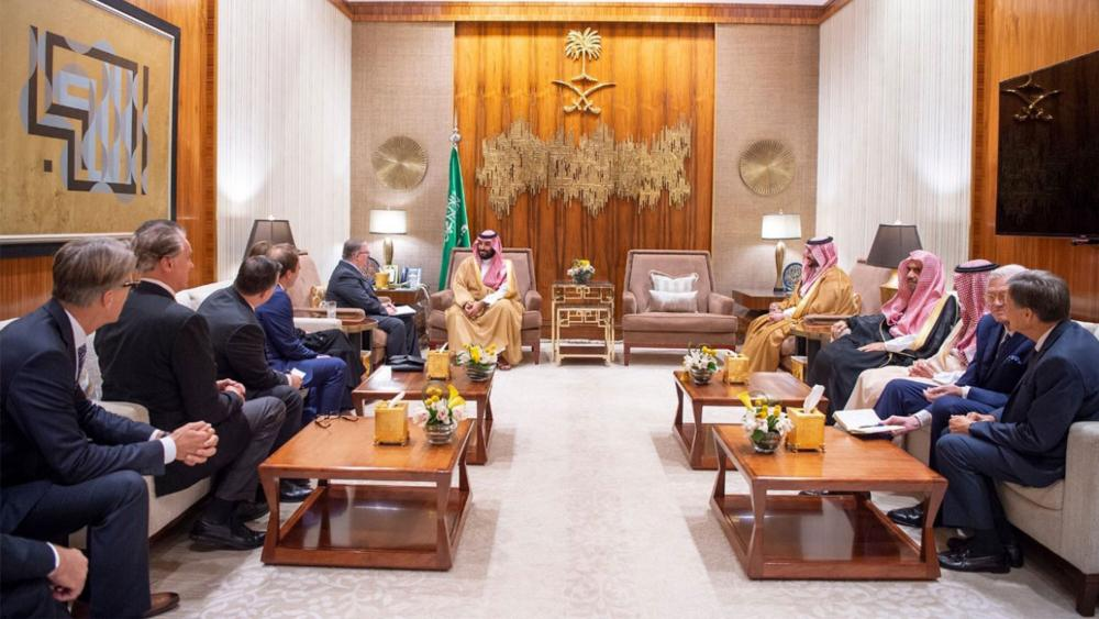 US evangelical delegation meeting with His Royal Highness Prince Mohammed bin Salman bin Abdulaziz.
