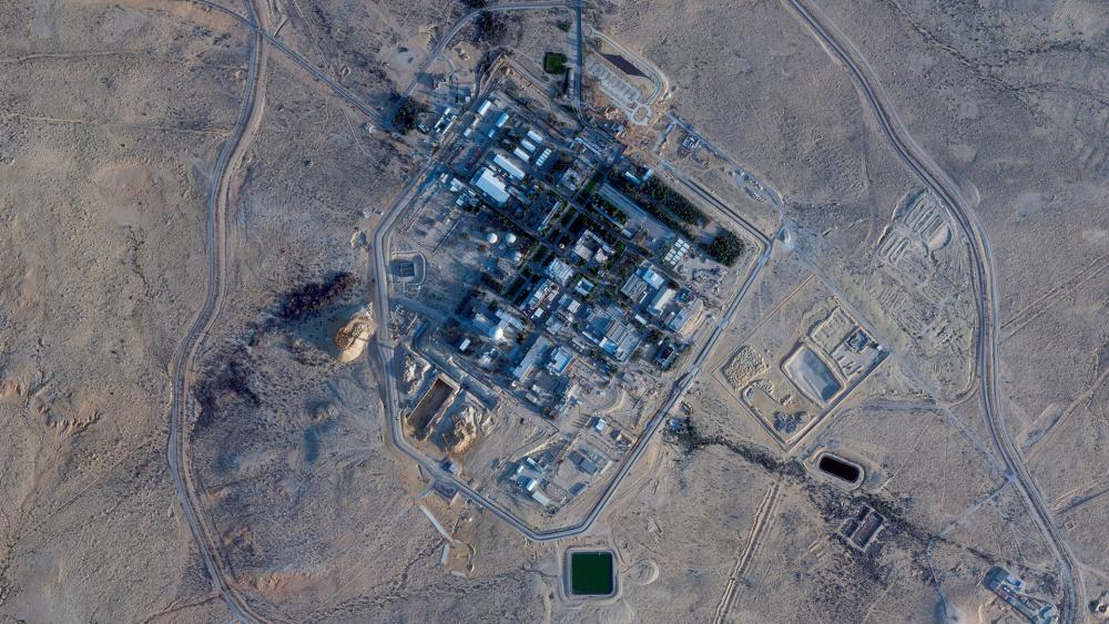 This Monday, Feb. 22, 2021 satellite shows construction at the Shimon Peres Negev Nuclear Research Center near the city of Dimona, Israel. (Planet Labs Inc. via AP)