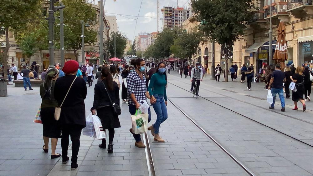 Shopping on Jaffa Street in Jerusalem