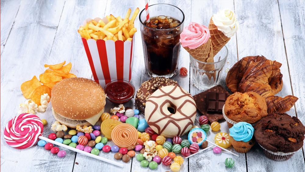 sugary junk food