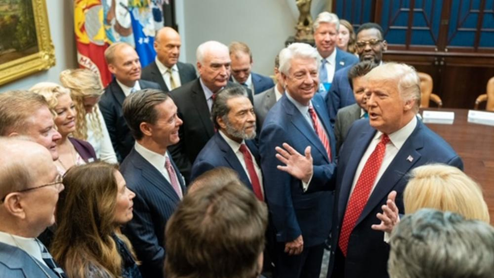 President Trump met with evangelical leaders at the White House this week (Photo: White House)