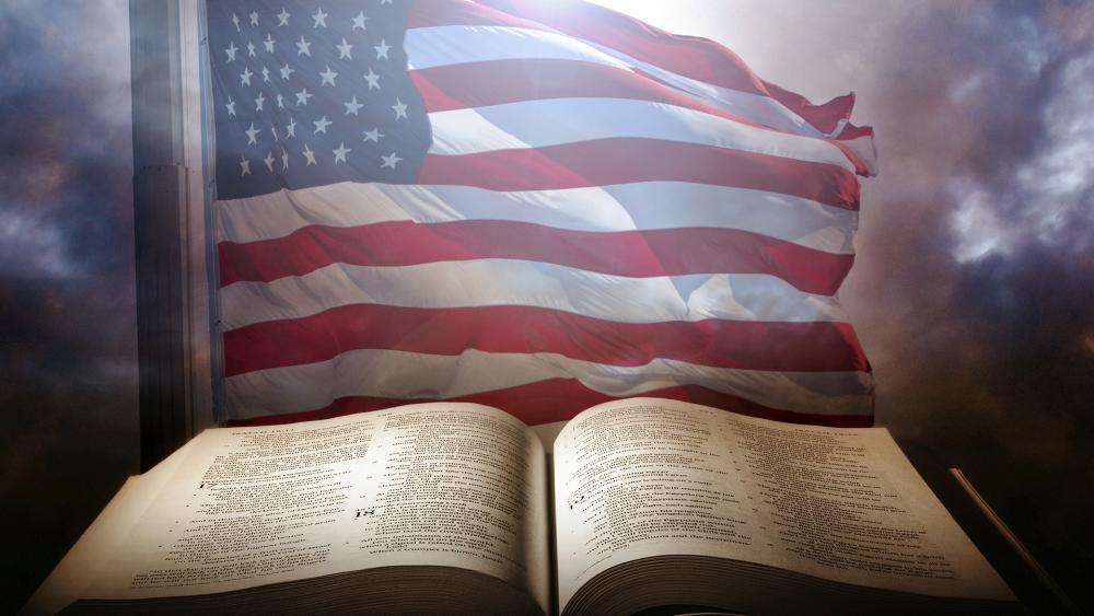 US Flag and Bible