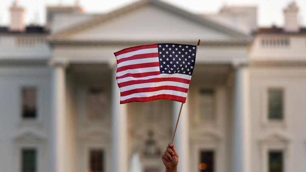 US Flag White House AP