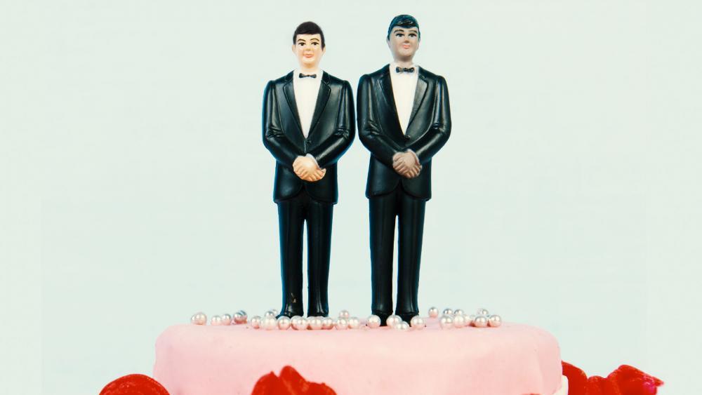 wedding cake topper 2 men