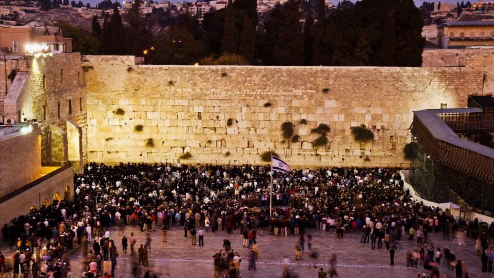 western wall night