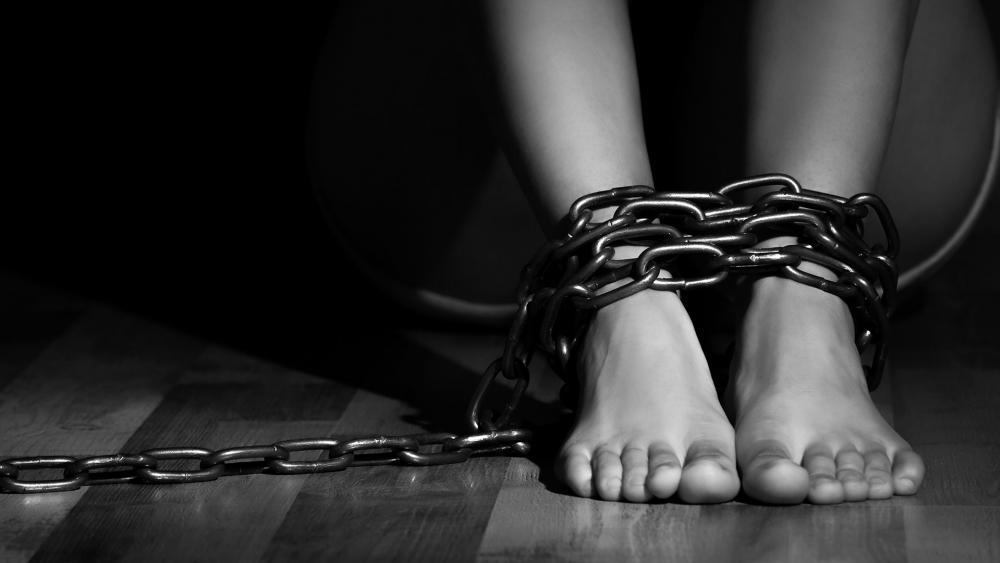 Woman Chained